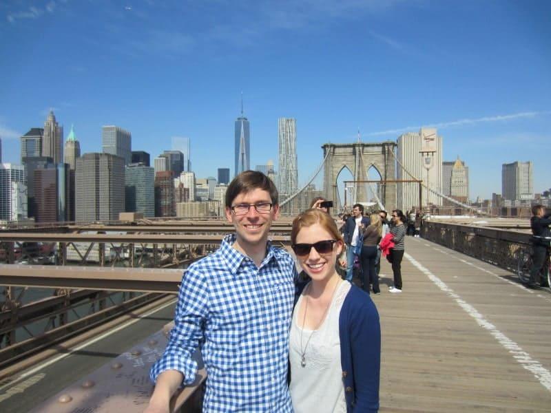 Flo und ich auf der Brooklyn Bridge