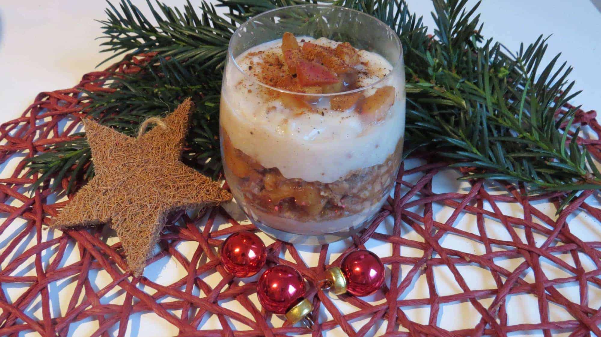 Mandel-Spekulatius-Bratapfel-Pudding