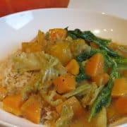 Kürbis-Süßkartoffel-Curry mit Wirsing