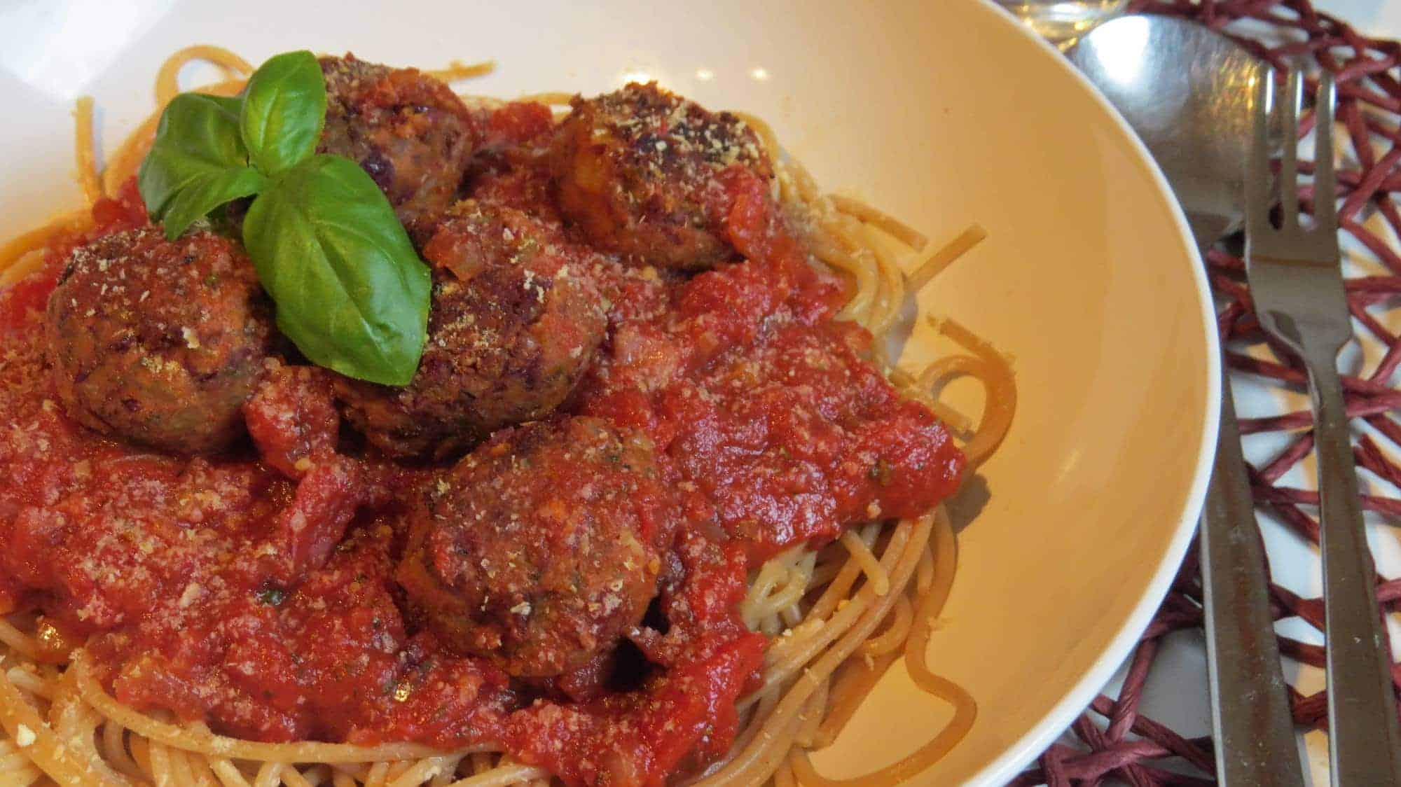 Spaghetti and Meatballs (vegan)
