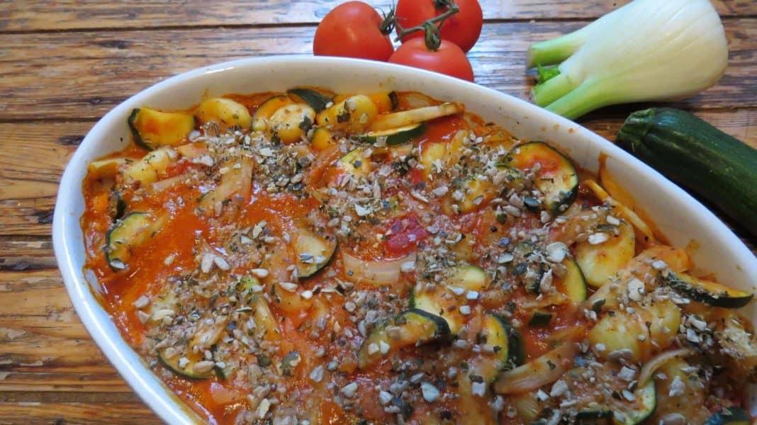 Gnocchi-Auflauf mit Fenchel und Zucchini