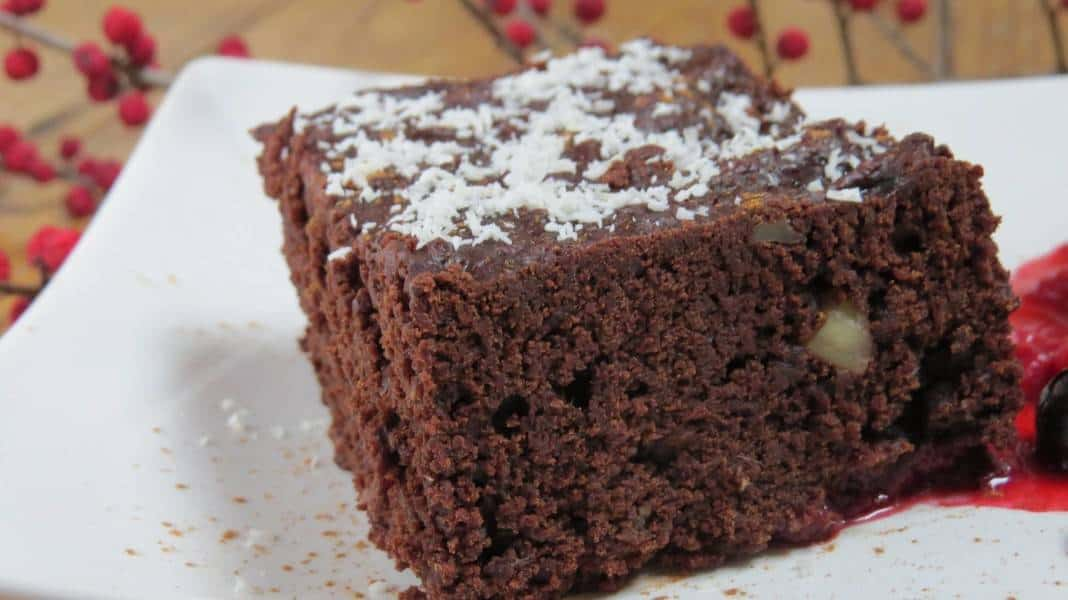 veganer Schoko-Walnuss Brownie