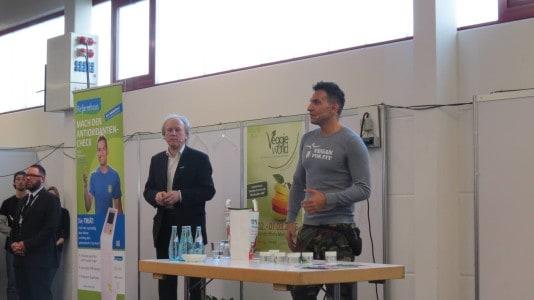 Attila Hildmann und Rainer Plum vom Reformhaus