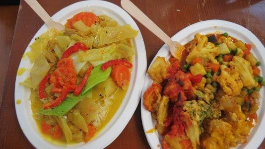 Mittagessen auf der Veggie World