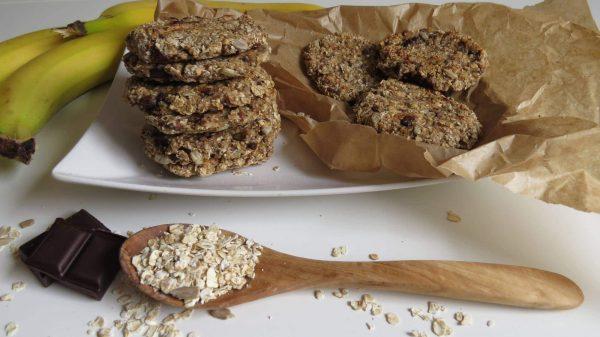 Vegane Haferflocken-Bananen Kekse