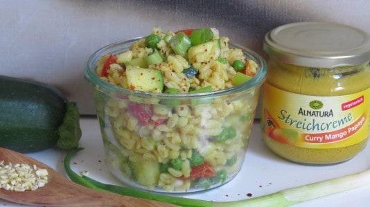 Veganer Eblysalat mit Alnatura Streichcreme