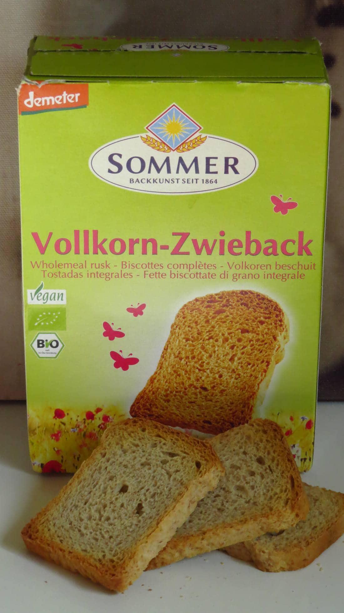 Sommer Vollkorn-Zwieback