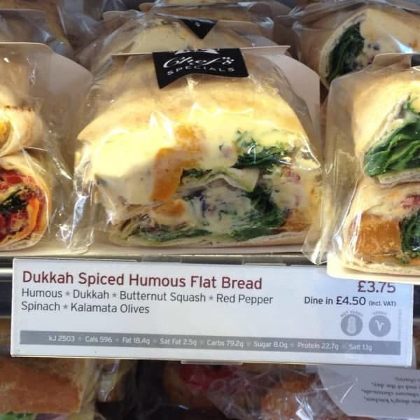 Veganes Sandwich bei Pret a Manger