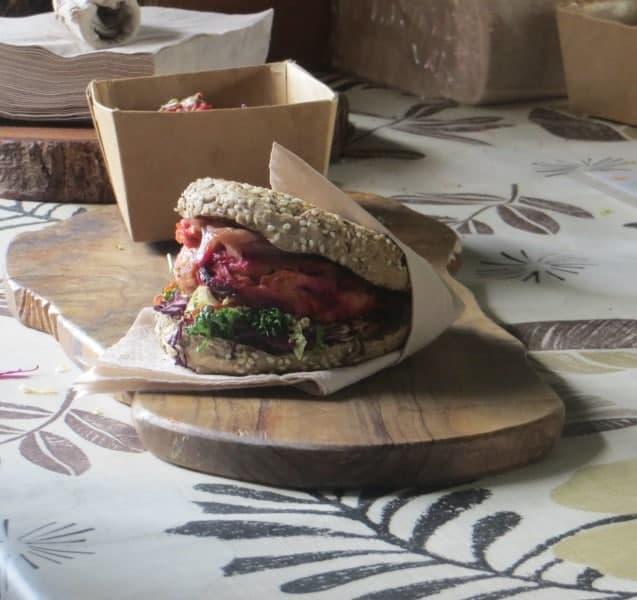 Veggie Burger auf dem Borough Market