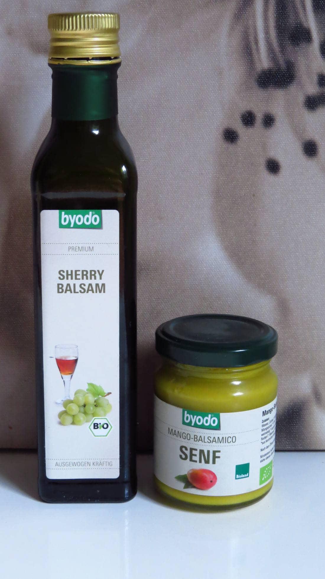 byodo Sherry Balsam und Mango-Balsamico Senf