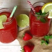 Erdbeer-Rhabarber Limonade