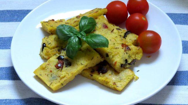 Vegane Mediterrane Polenta Sticks