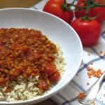 Rote Linsen-Chia Power Bowl