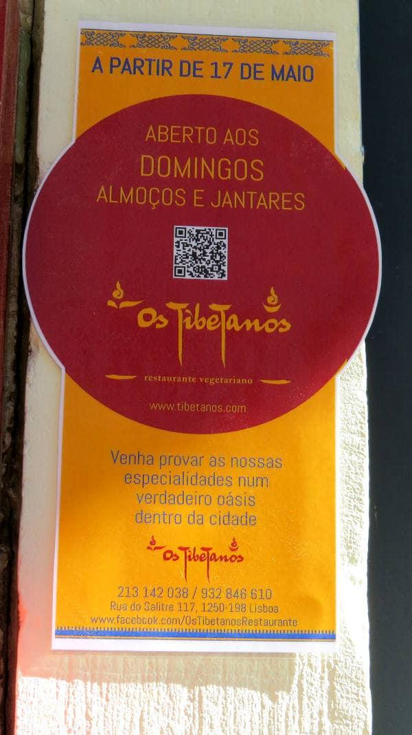 Os Tibetanos, Vegan in Lissabon