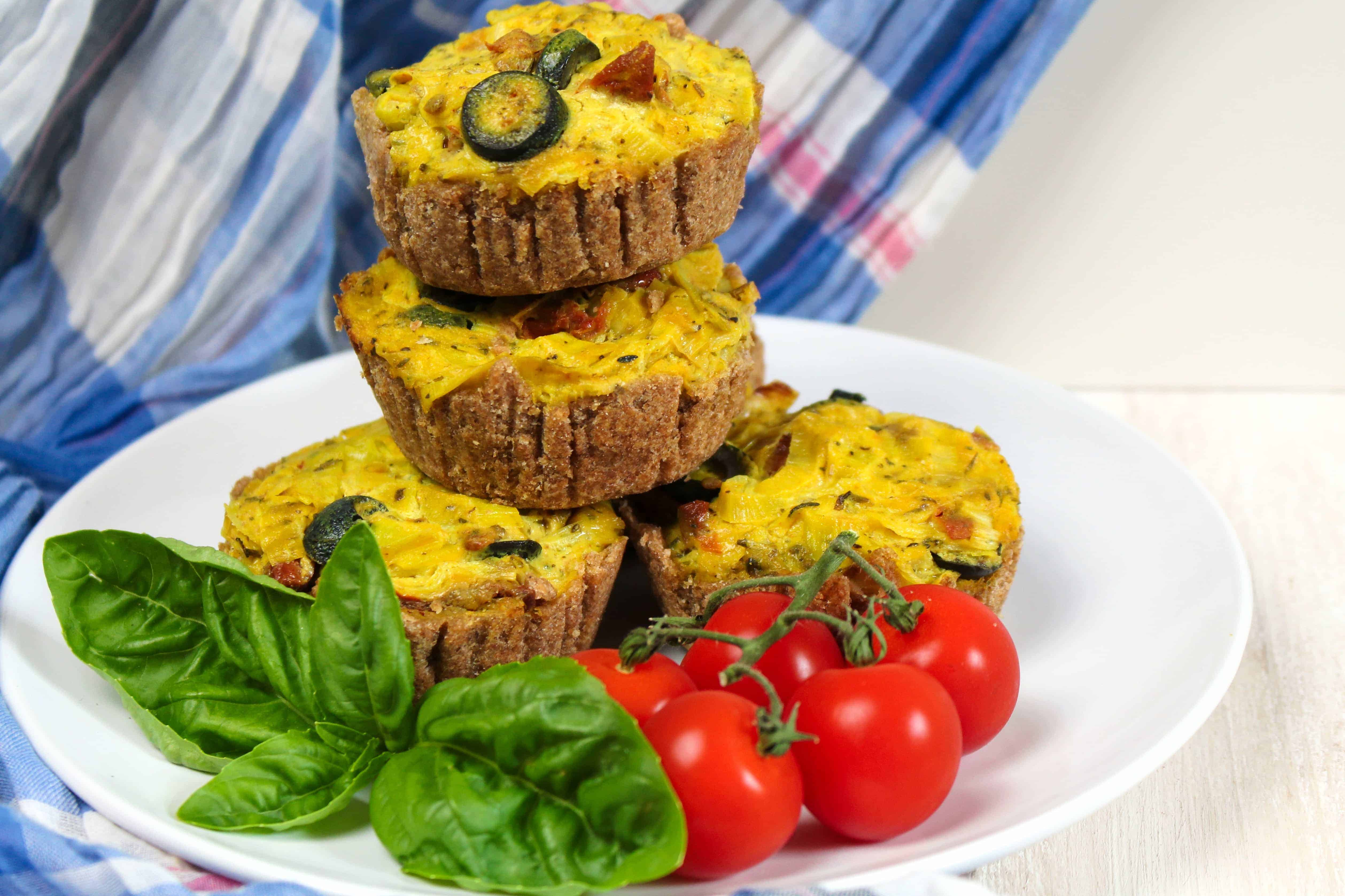 Vegane Lauch-Tomaten Mini Quiches