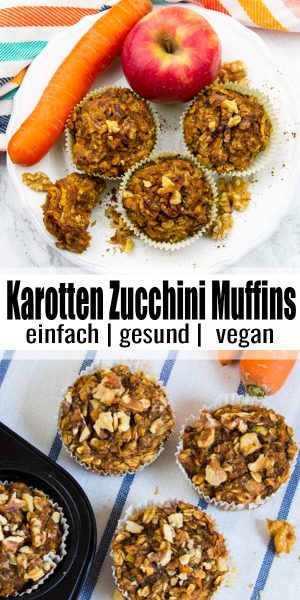 Karotten Zucchini Muffins
