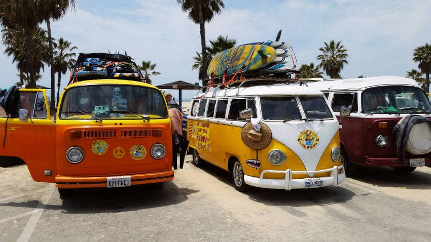 VW-Busse am Venice Beach Vegan USA