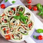 Vegane Basilikum Ricotta Wraps