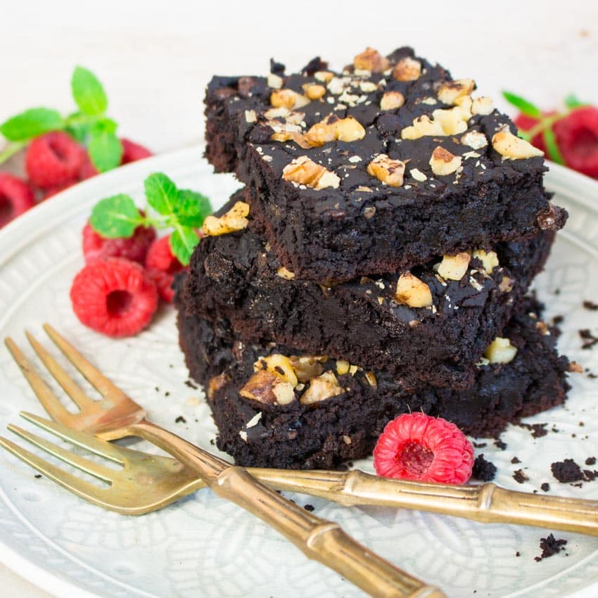 Vegane Black Bean Brownies