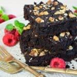 Vegane Black Bean Brownies