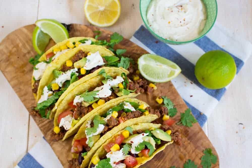 vegane tacos mit linsen walnuss f llung vegan heaven. Black Bedroom Furniture Sets. Home Design Ideas