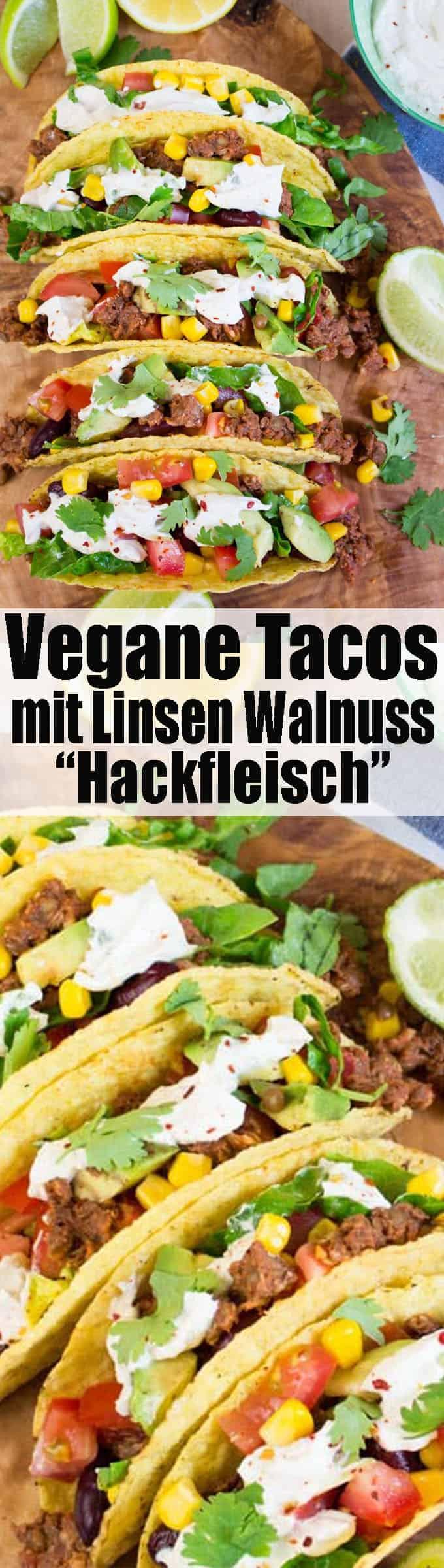 Super leckeres Rezept für vegane Tacos mit Linsen Walnuss