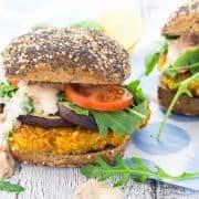 Vegane Schnitzel Burger (mediterran)