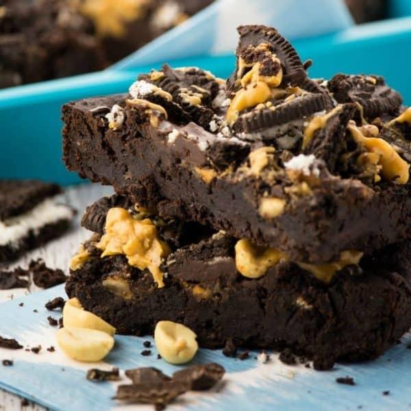 Erdnussbutter Oreo Brownies