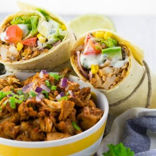 Veganer Jackfruit Pulled Pork Wrap