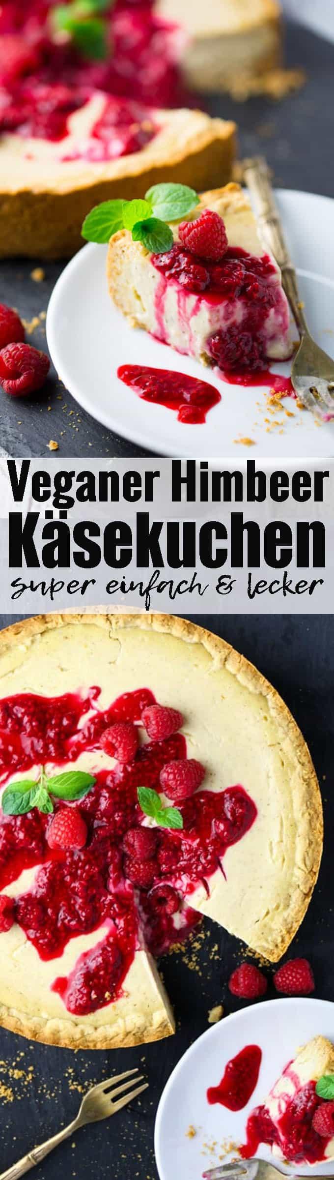 Veganer Kuchen kann so lecker sein! Meine Lieblingsvariante: veganer Käsekuchen mit Himbeersauce. So lecker und super einfach! Mehr vegane Rezepte findet ihr auf veganheaven.de ! <3