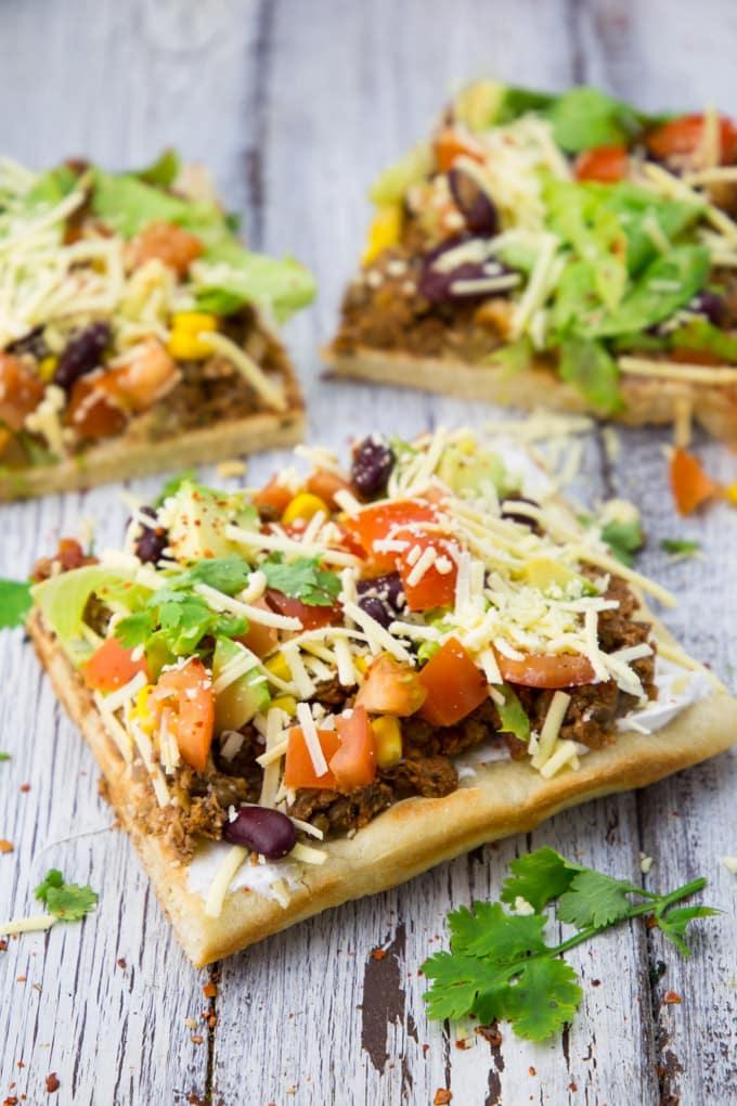 Vegane Taco Pizza