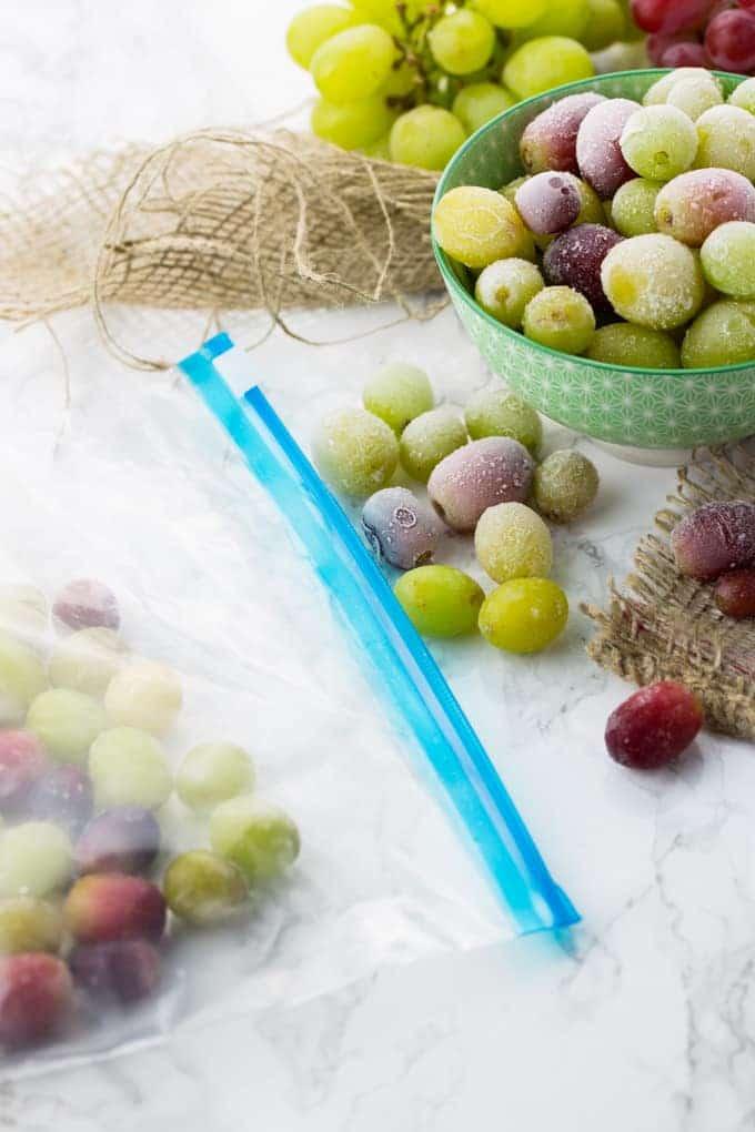Gefrorene Trauben - der beste Sommer-Snack!