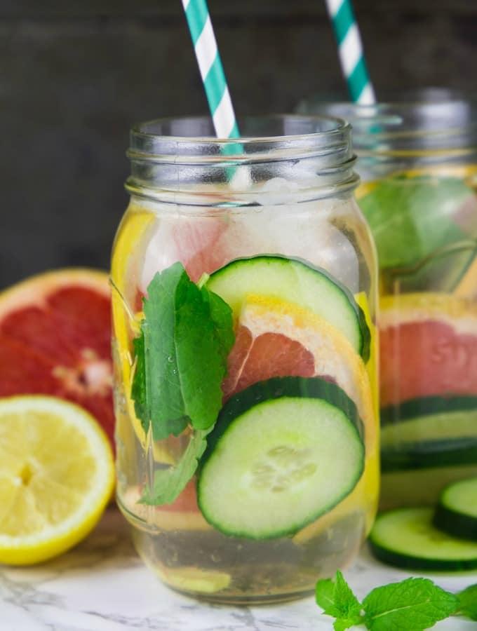 Grapefruit Mango Detox Wasser & Produkttest BRAUN Silk-épil Bibi-Edition