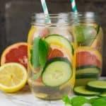 Grapefruit Mango Detox Wasser & Produkttest Braun Silk-Epil Bibi-Edition