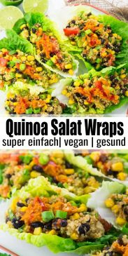 Quinoa Salat Wraps