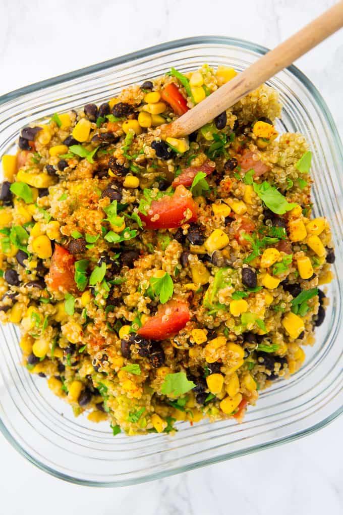 Super gesunde vegane Wraps mit Quinoa