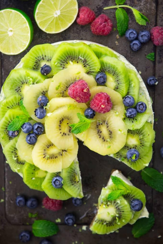 Torte ohne Backen mit Zespri Kiwi SunGold