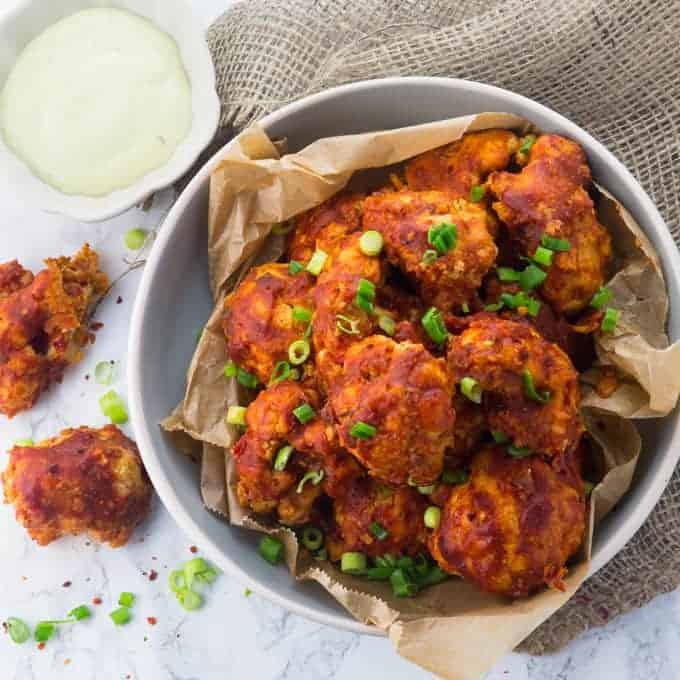 Vegane Chicken Wings aus Blumenkohl