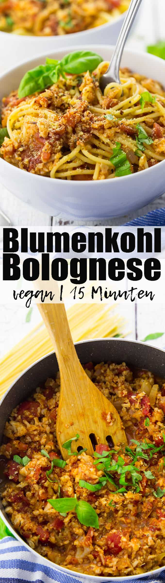 vegane bolognese aus blumenkohl vegan heaven. Black Bedroom Furniture Sets. Home Design Ideas