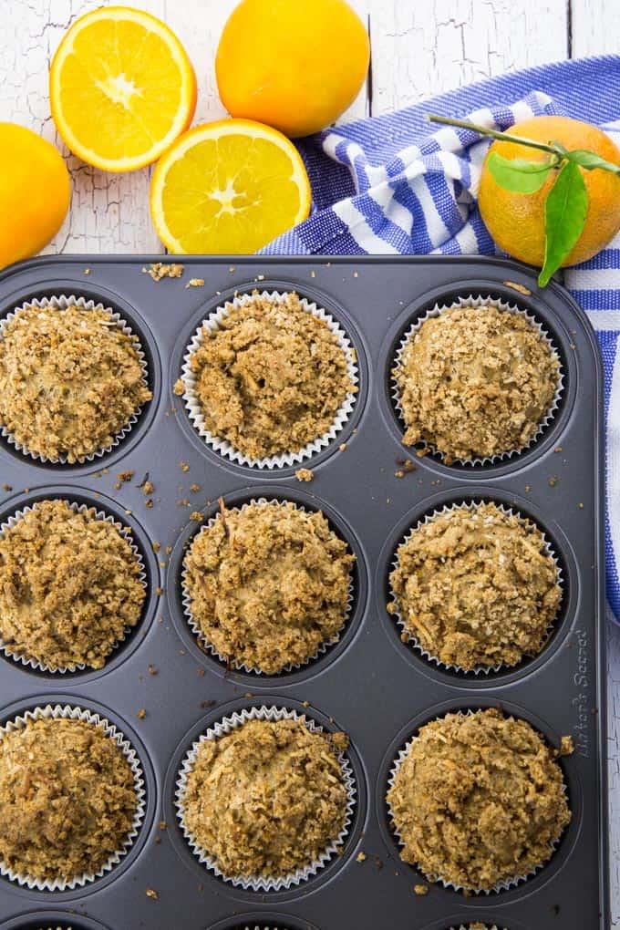 Orangen Muffins mit Zimt