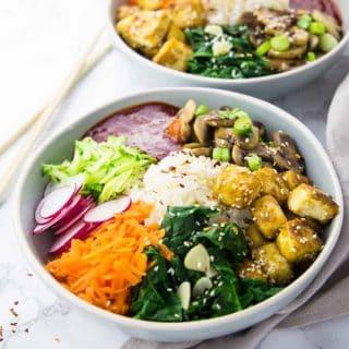Koreanisches Bibimbap (Vegan)