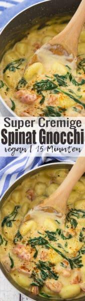 Vegane Gnocchi mit cremiger Spinat-Sauce