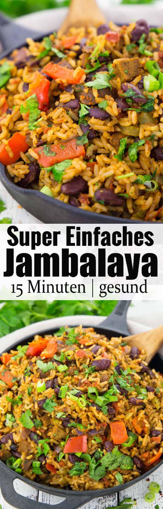 Jambalaya ist das ultimative Wohlfühlessen aus dem Südosten der USA! Rezepte mit Reis bzw. vegetarische Rezepte können so lecker und einfach sein! Mehr vegane Rezepte findet ihr auf veganheaven.de !