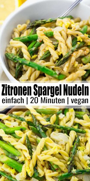Zitronen Spargel Nudeln