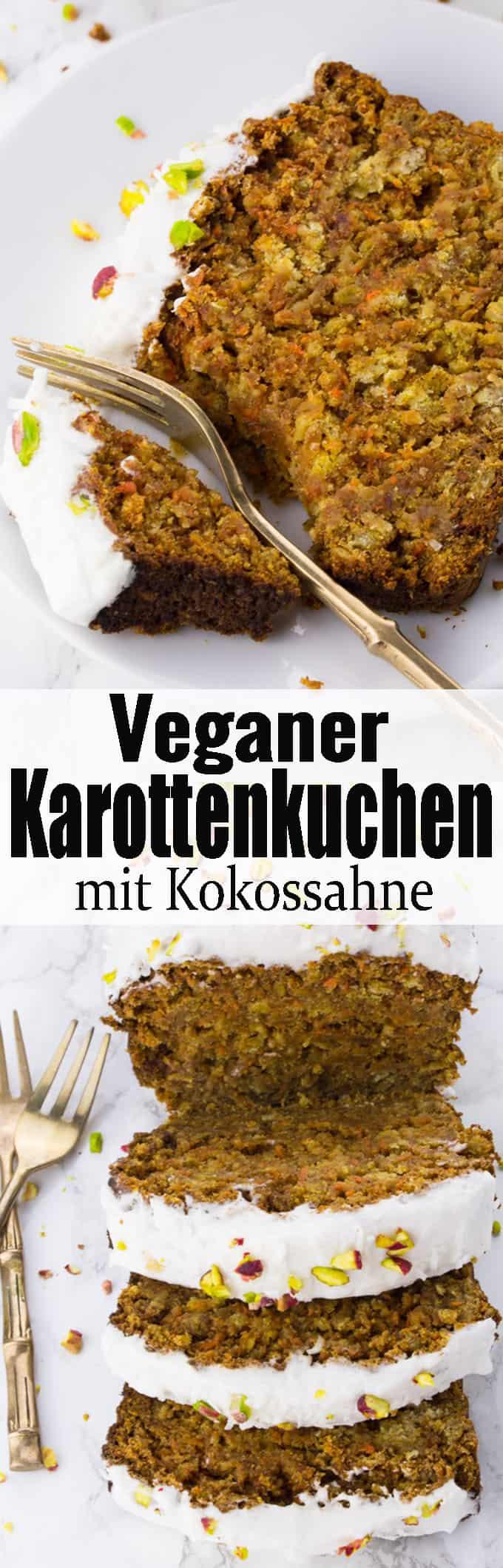 Veganer Karottenkuchen ist eines meiner liebsten Kuchenrezepte! Super lecker, saftig und perfekt für den Frühling! Vegan Backen kann so einfach sein! Mehr vegane Kuchenrezepte und allgemein vegane Rezepte auf veganheaven.de!