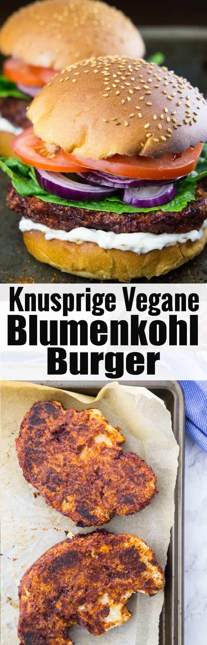 Super leckerer veganer Burger mit knusprigen BBQ Blumenkohl Burger Patties! Vegane Rezepte können so lecker sein! Mehr vegetarische Rezepte und Grillrezepte findet ihr auf meinem Food Blog veganheaven.de