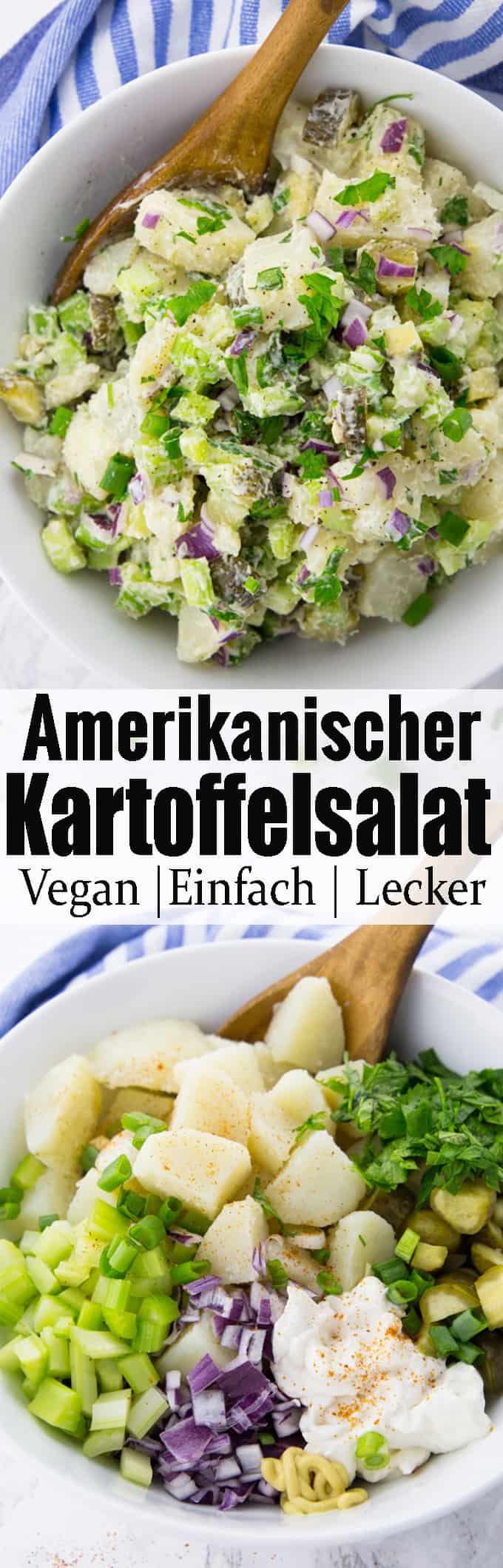 Veganer Kartoffelsalat ist einfach perfekt für die Sommerzeit! Egal ob zum Grillen oder für ein Picknick, mit Kartoffelsalat kann man nichts falsch machen. Mehr vegane Rezepte und vegetarische Rezepte findet ihr auf veganheaven.de!