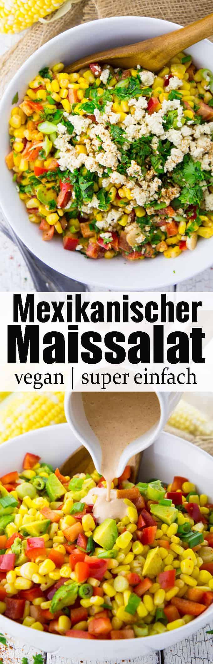 Dieser mexikanische Maissalat mit Chipotle Dressing ist perfekt für das nächste Grillfest! Eines meiner liebsten Grillrezepte bzw. Grillbeilagen. Er ist angenehm scharf und sehr einfach zuzubereiten. Außerdem ist er komplett vegan und glutenfrei.