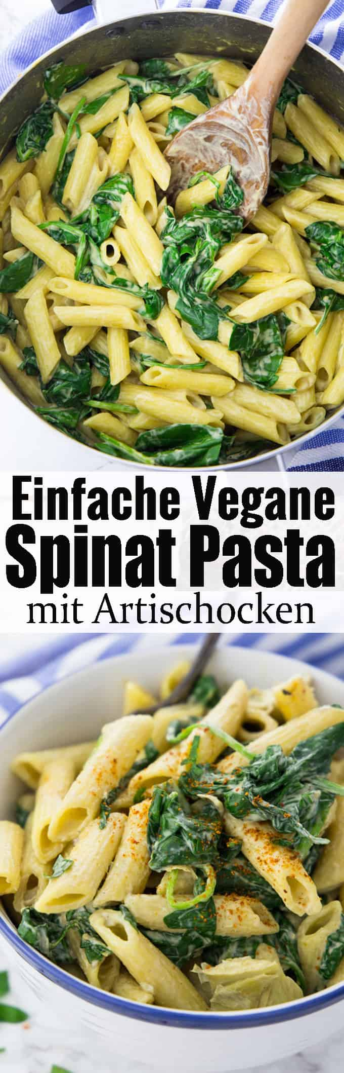 Nudeln mit Spinat sind einfach das perfekte Gericht für ein schnelles Abendessen! Einfach immer wieder lecker und super schnell gemacht! Eines meiner liebsten Pasta Rezepte.Mehr vegane Rezepte und vegetarische Rezepte auf meinem Blog veganheaven.de!