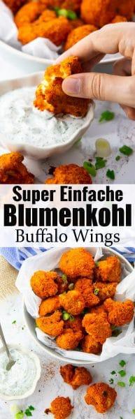 Gebackener Blumenkohl mit Buffalo Sauce